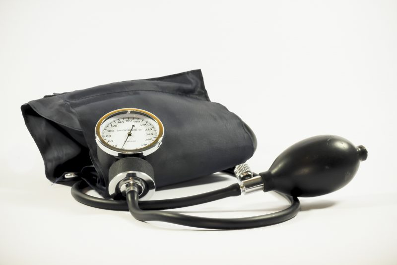 black blood pressure gauge